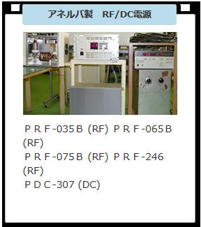 アネルバ製 RF/DC電源